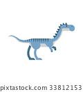 dinosaur, vector, cartoon 33812153