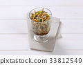 Zucchini salad with seeds 33812549