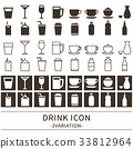 Drink icon set 33812964