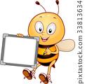 벌, 꿀벌, 공백 33813634