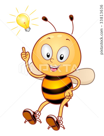 Bee Mascot Light Bulb 33813636