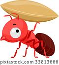 Ant Mascot Carry Grain 33813666