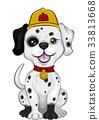 Dog Dalmatian Mascot Fire Fighter 33813668