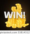gold, vector, coin 33814312