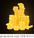 gold, coin, stack 33814313