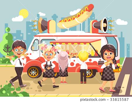 Vector illustration cartoon characters children 33815587
