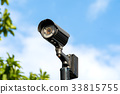 CCTV or surveillance camera on blue sky 33815755