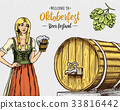 A woman in traditional Belgian or Bavarian clothes 33816442