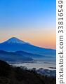 富士山 日本平原 日出 33816549