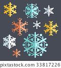 vector, flat, snowflakes 33817226