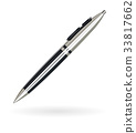 real luxury ball head pen black and silver color 33817662