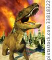 Dinosaur doomsday 3d rendering 33818322