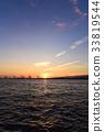 오사카 항 일몰 33819544