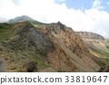 磐梯山の噴火口跡 33819647