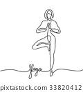 yoga, woman, pose 33820412