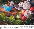 Christmas decorations still life 33821387