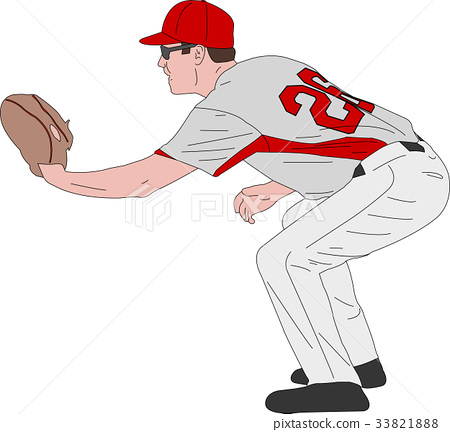 baseball player, detailed illustration 33821888