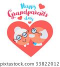 grandparent, day, vector 33822012