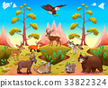 Cute mountain animals in the nature 33822324