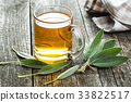 Sage tea and leaves. 33822517
