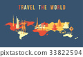 map,travel,vector 33822594
