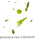 vector, vectors, kagoshima prefecture map 33824070