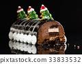 Chrismtas chocolate yule log 33833532