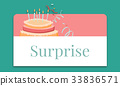 Illustration of birthday party event celebration with cake 33836571