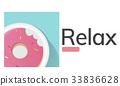 Illustration of sweet dessert donut pastry commercial 33836628