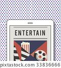 Illustration of movies theatre media entertainment on digital tablet 33836666