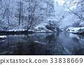 ฉากหิมะ,ฤดูหนาว,ธารน้ำจากภูเขา 33838669