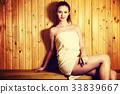 women, towel, spa 33839667
