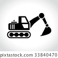 excavator icon on white background 33840470