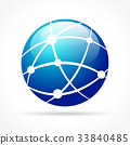 icon network global 33840485
