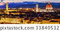 Beautiful panoramic view of Florence 33840532