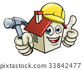 House Construction Mascot Cartoon Character 33842477