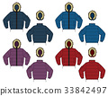 Down jacket illustration / color variation 33842497
