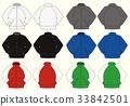 長袖夾克·平針織插圖/顏色變化 33842501