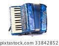 Blue Accordion popular musical instrument 33842852