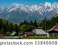 融雪 北阿爾卑斯 農村 33846608