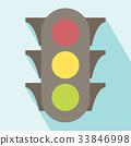 Traffic Light Icon 33846998