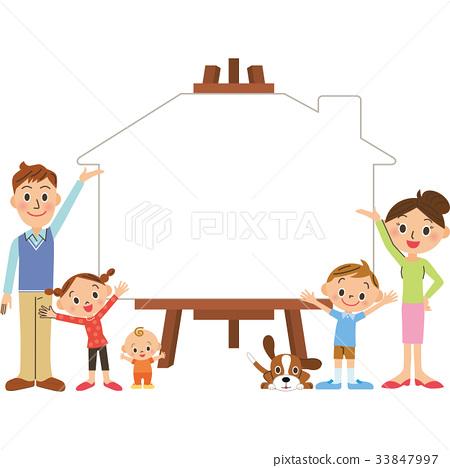 家庭校園的房子 33847997