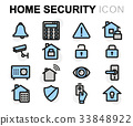 security, home, vector 33848922