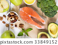 salmon, ingredient, broccoli 33849152