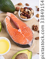 salmon, nuts, ingredient 33849154