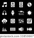 音乐 图标 矢量 33850667