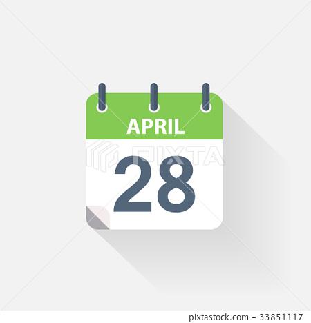 28 april calendar icon 33851117