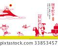 新年贺卡 贺年片 狗年 33853457