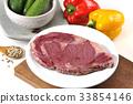 steak, beefsteak, beef 33854146