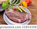 steak, beefsteak, beef 33854306
